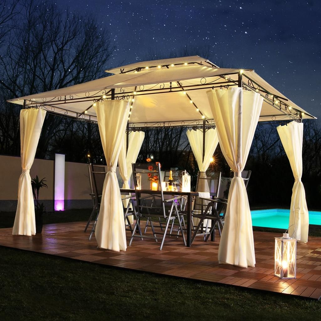 Secure garden gazebos with magnets