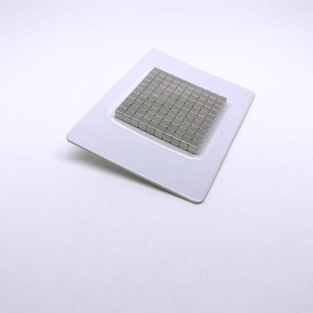 Würfelmagnet 1162 vernickelt
