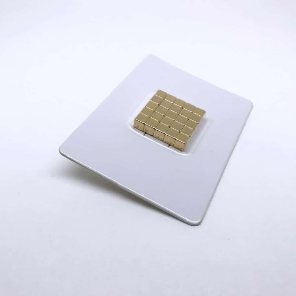 Würfelmagnet 1164 vergoldet