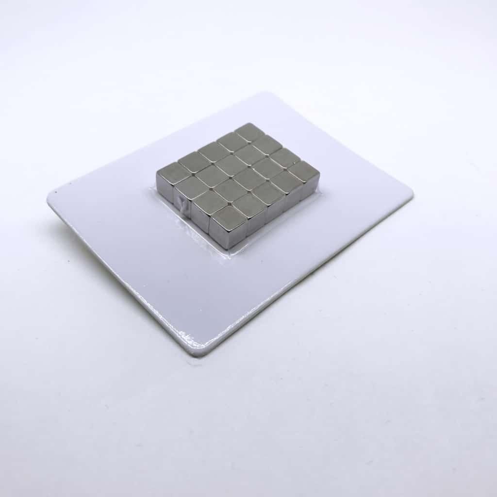 Würfelmagnet 1165 vernickelt