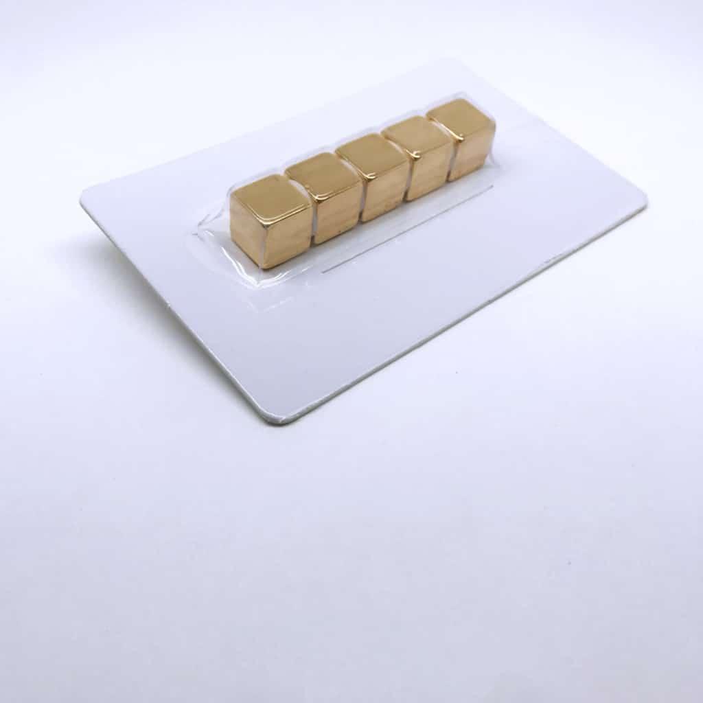Würfelmagnet 1169 vergoldet