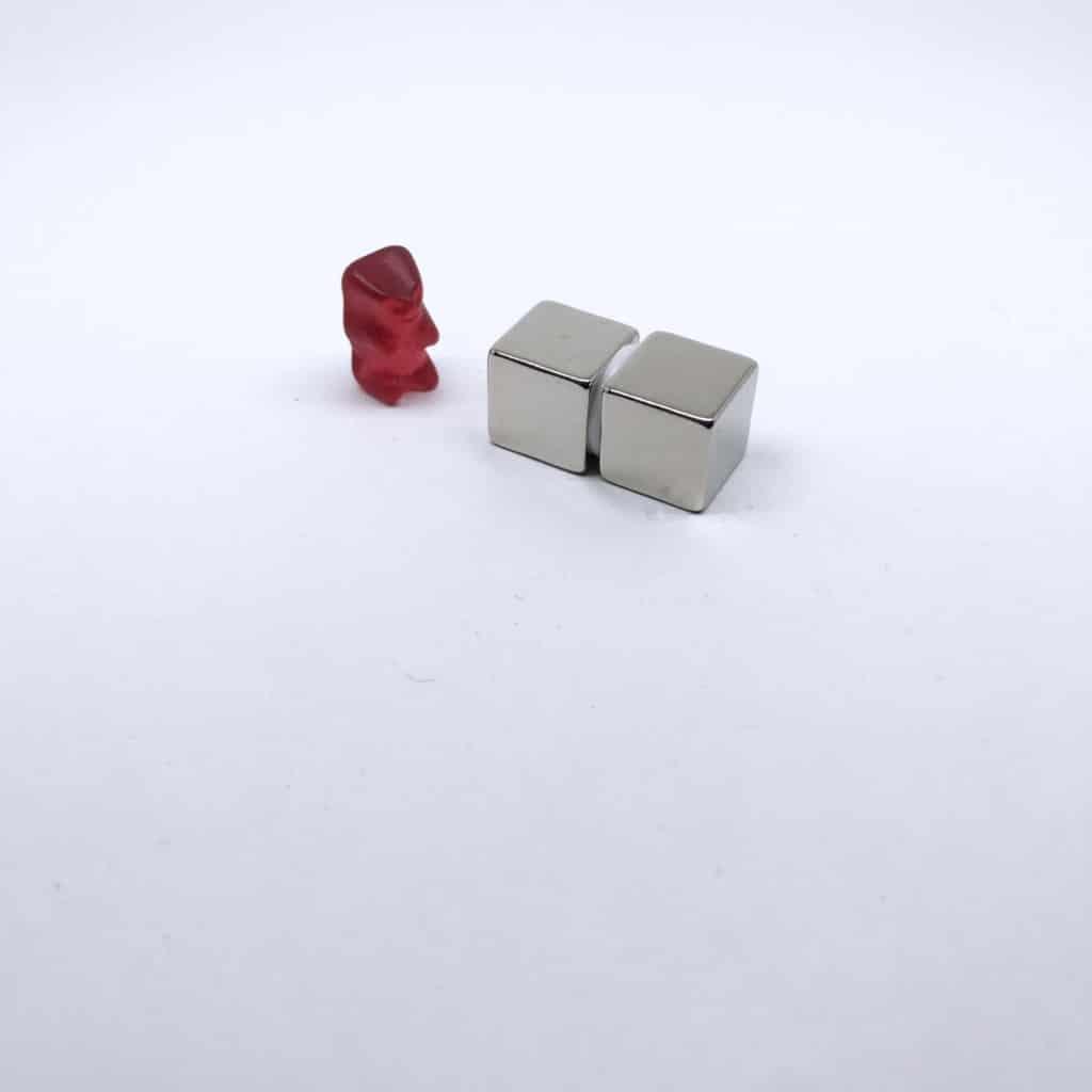 Würfelmagnet 1171 vernickelt